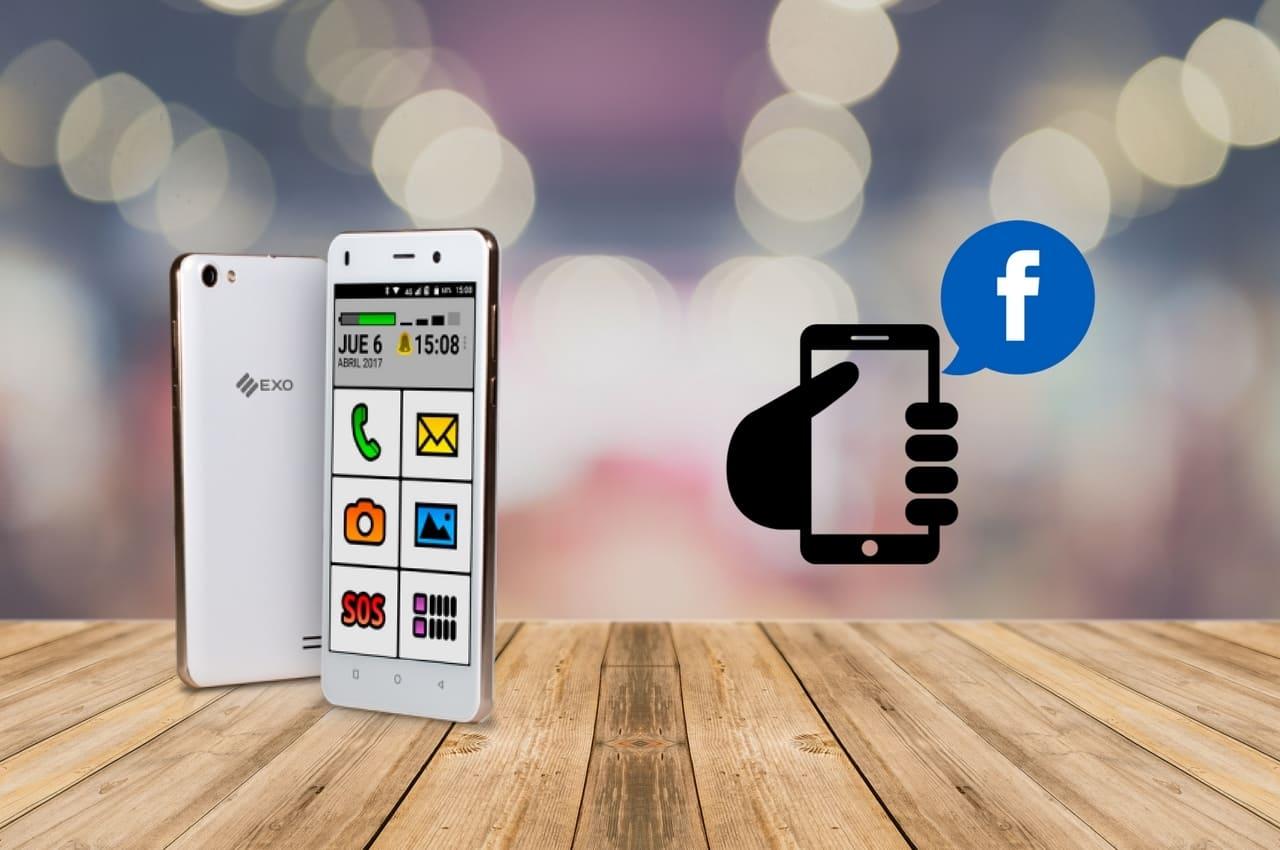 celular spanky e icono de Facebook