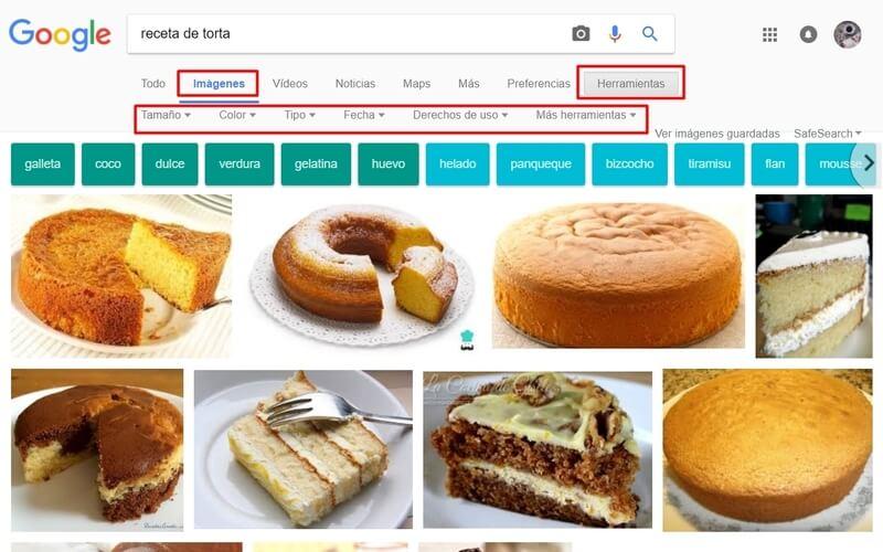 imágenes como buscar en google