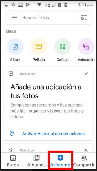 como usar google fotos