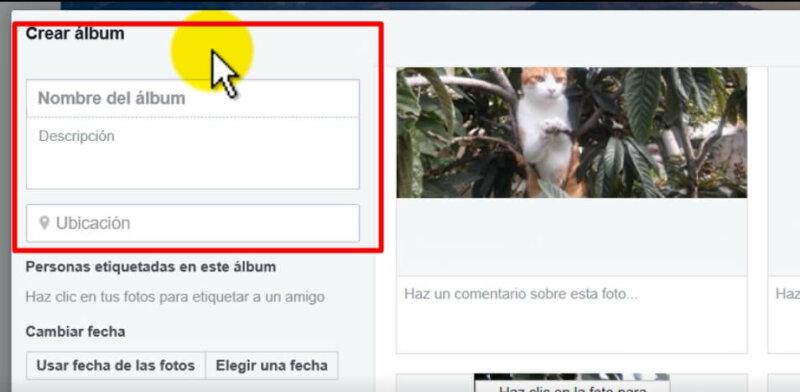 como crear album fotos en faceobok