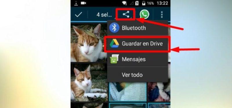 subir fotos a drive en el celular