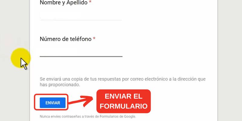 completar un formulario online