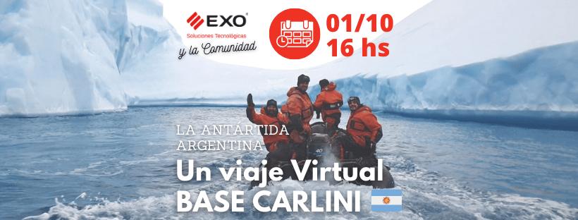 Viaje virtual a la Base Carlini en la Antártida Argentina