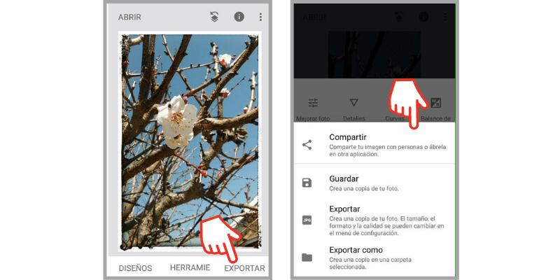 editar fotos con snapseed